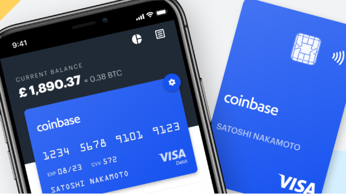 Coinbase VISA Enabled Cards